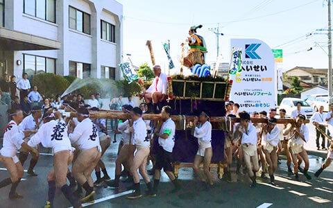 北新地山笠(本社行政区夏祭り)